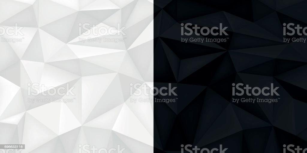 Fond Noir Et Blanc Des Cristaux Clairs Et Fonces Mosaique De
