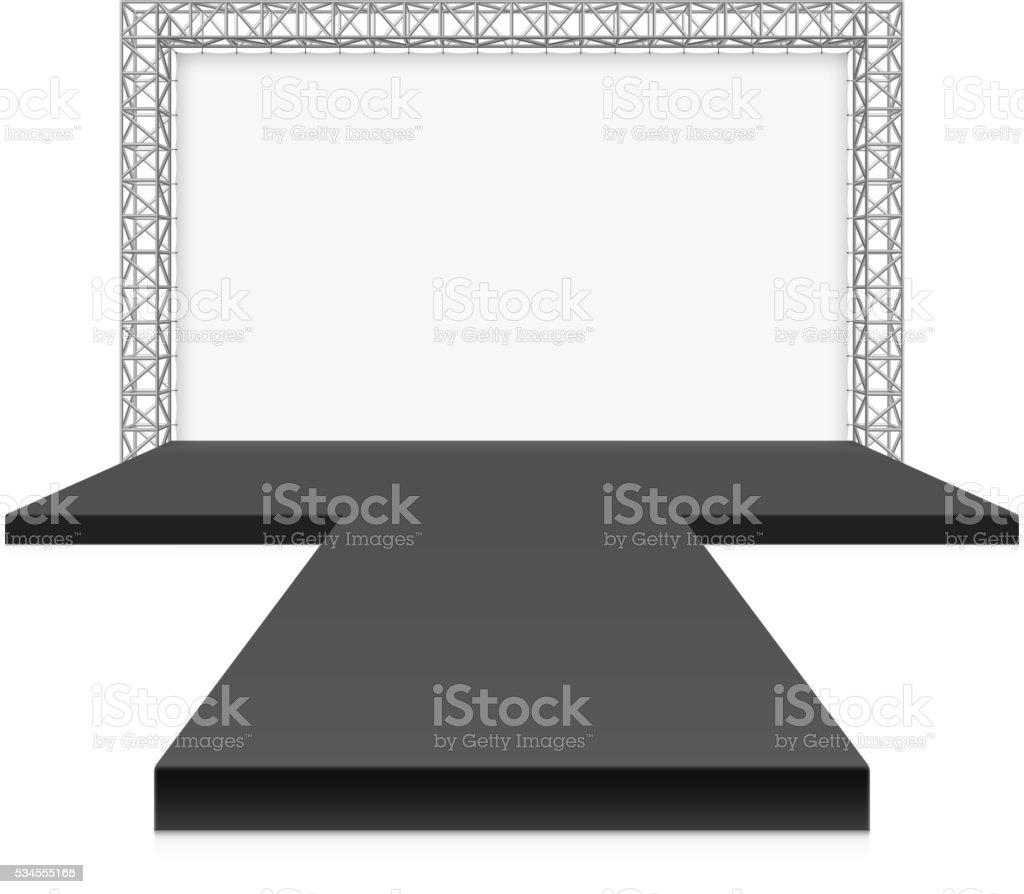 Low Stage with banner vector art illustration