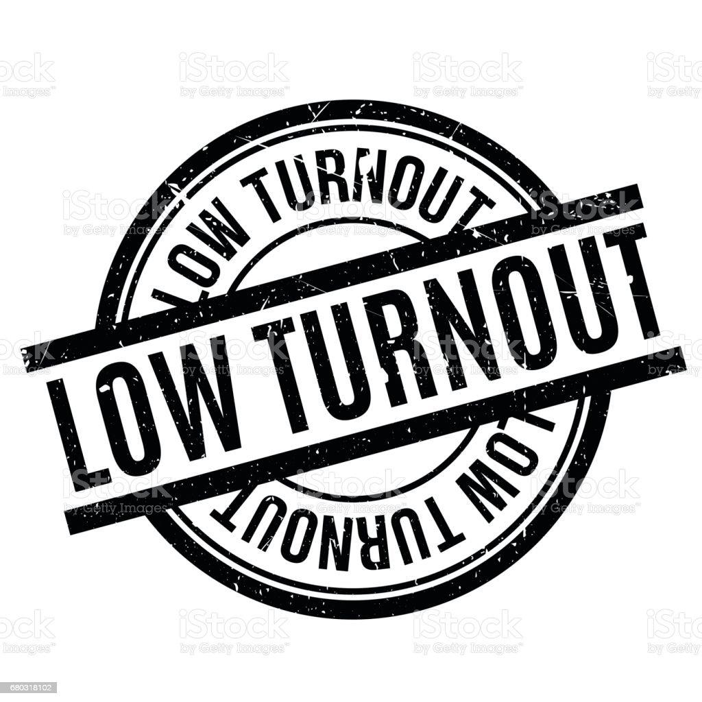 Low Turnout rubber stamp vector art illustration