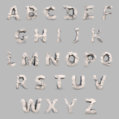 Low_poly_font2