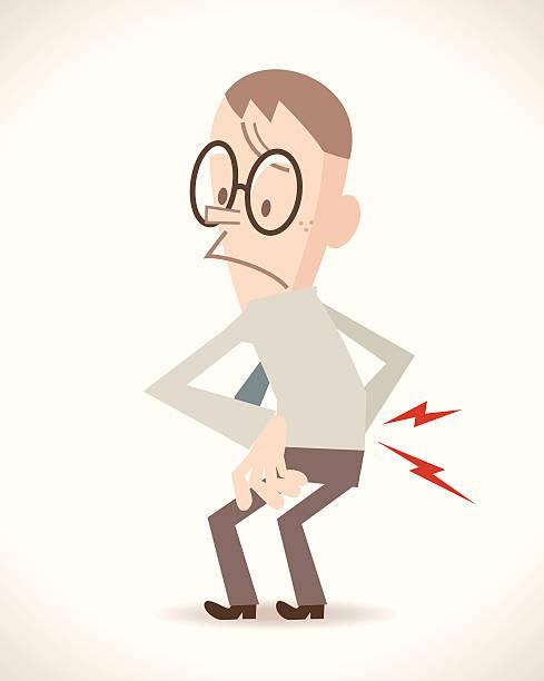Lower Back Pain vector art illustration