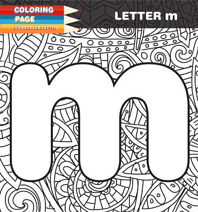 Ilustración De Doodle De Página Minúscula Letra Para