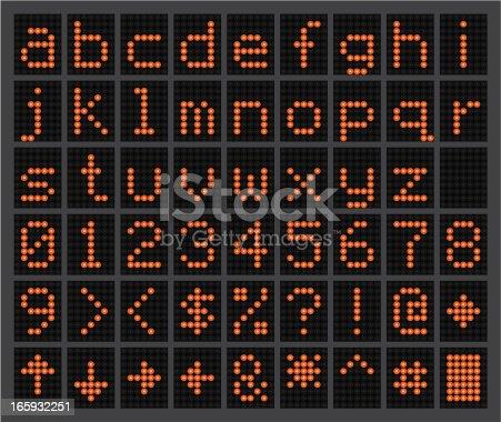 istock Lowercase Glowing LED alphabet 165932251