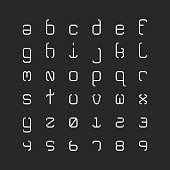 Lowercase Light Alphabet Typography Series Vector EPS File.