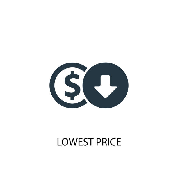 lowest price icon. Simple element illustration. lowest price concept symbol design. Can be used for web and mobile. lowest price icon. Simple element illustration. lowest price concept symbol design. Can be used for web and mobile. at the bottom of stock illustrations