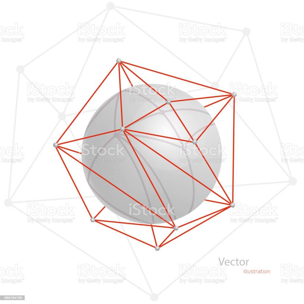 Lowpoly geometrik şekil. Vektör çizim royalty-free lowpoly geometrik şekil vektör çizim stok vektör sanatı & alt açı görünümü'nin daha fazla görseli