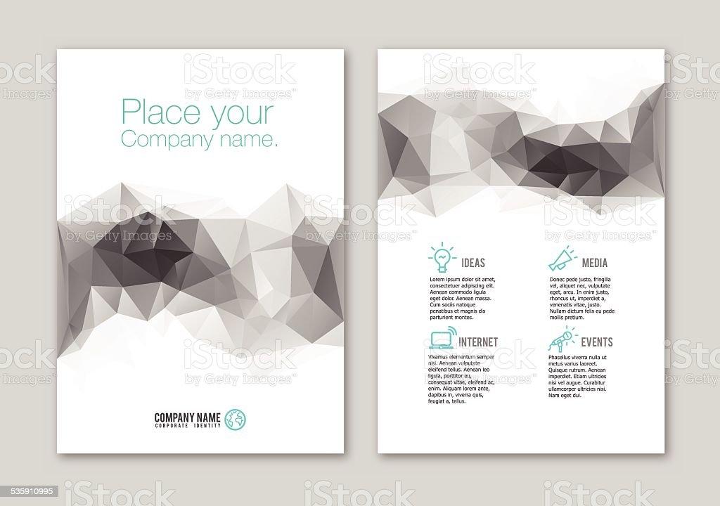 Lowpoly Portfolio Design stock vector art 535910995 | iStock