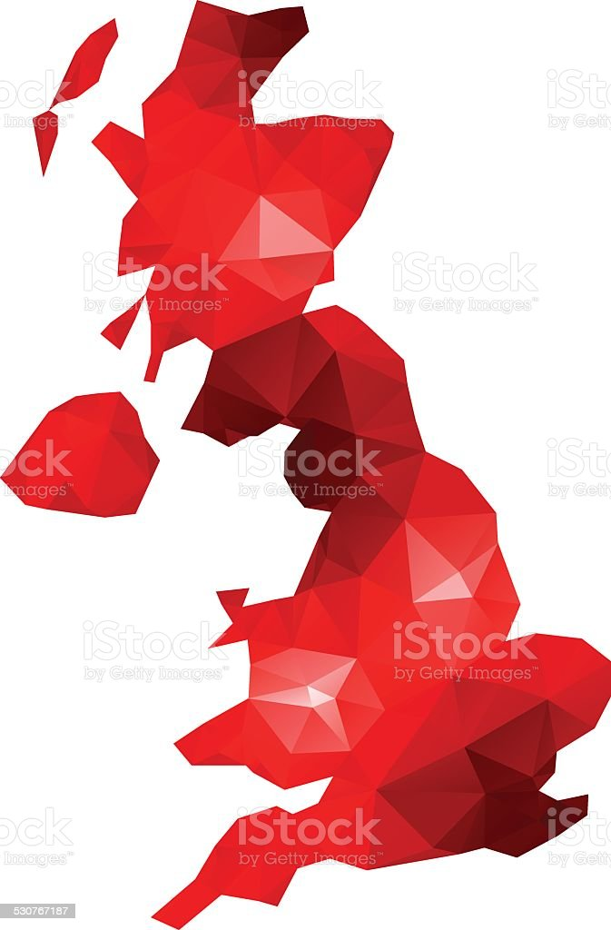 Lowpoly UK vector art illustration