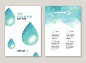 Brochure print design. Blue color version.