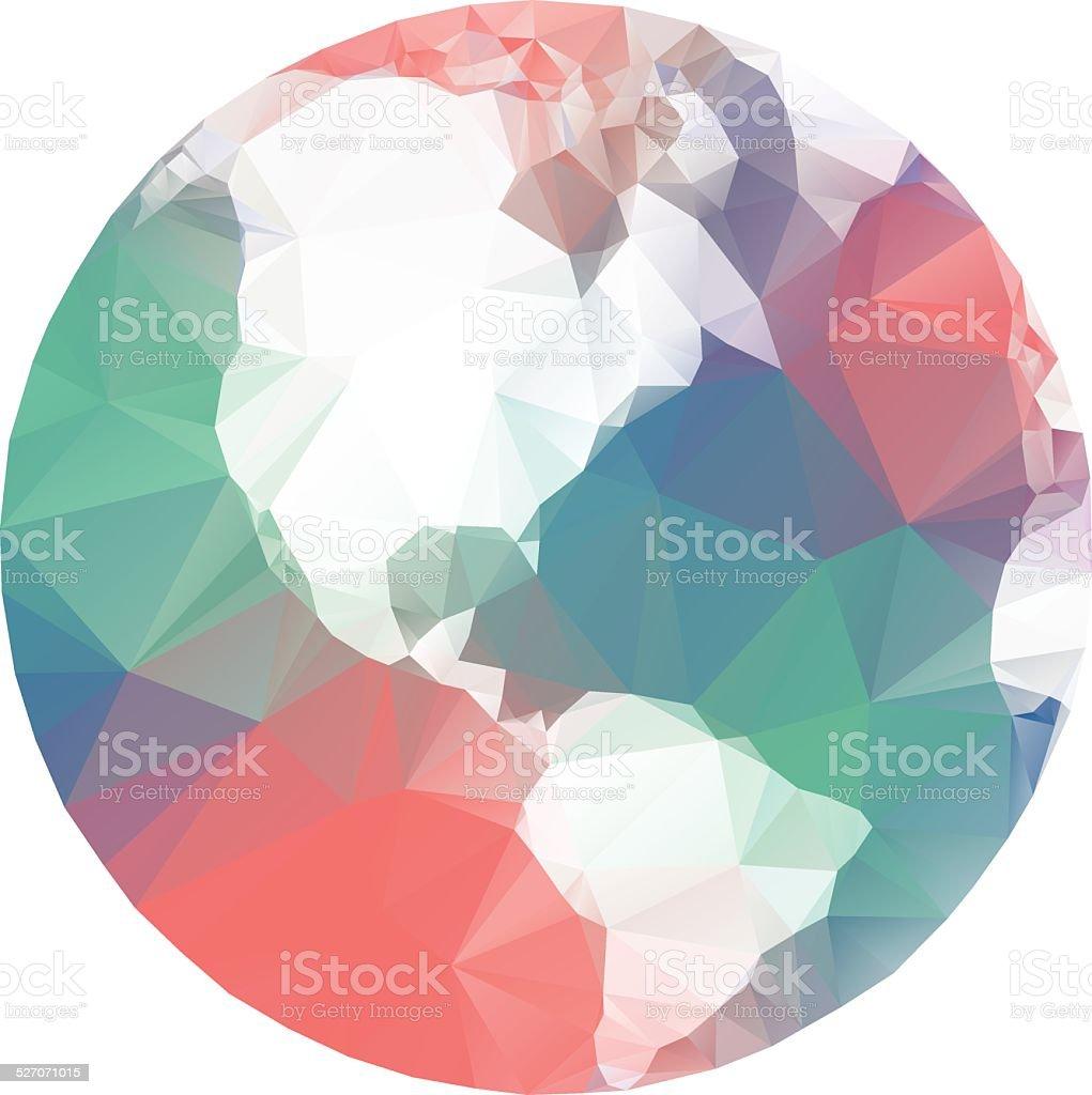 Lowpoly World vector art illustration