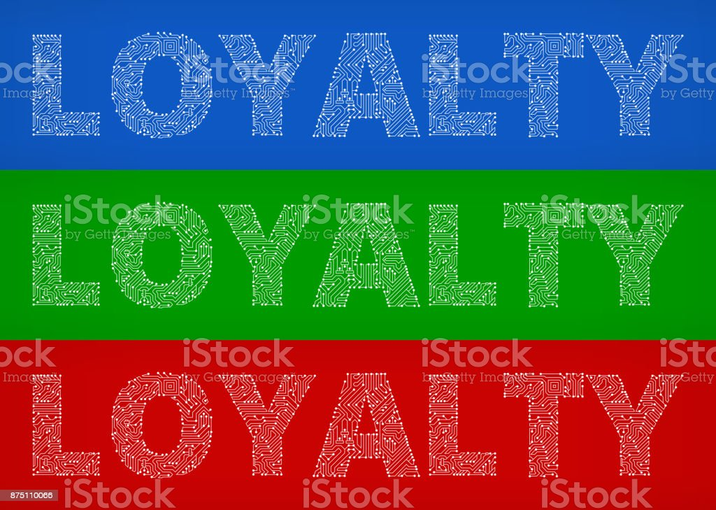 Royalty Over Loyalty Coloring Page: Loyalty Circuit Board Color Vector Backgrounds Stock