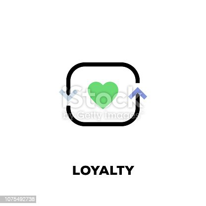 istock Loyalty Line Icon 1075492738