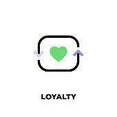 istock Loyalty Line Icon 1075492738