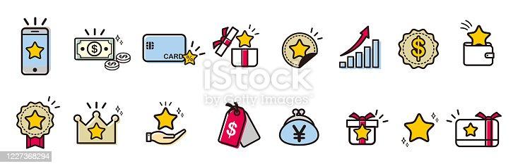 Loyalty Program vector icons set