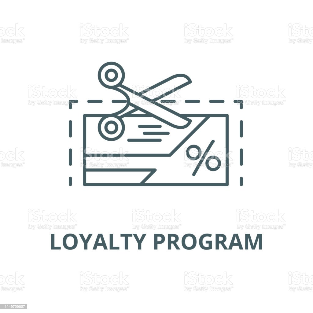 Loyalty Program Vector Line Icon Linear Concept Outline Sign Symbol Stock Illustration Download Image Now Istock