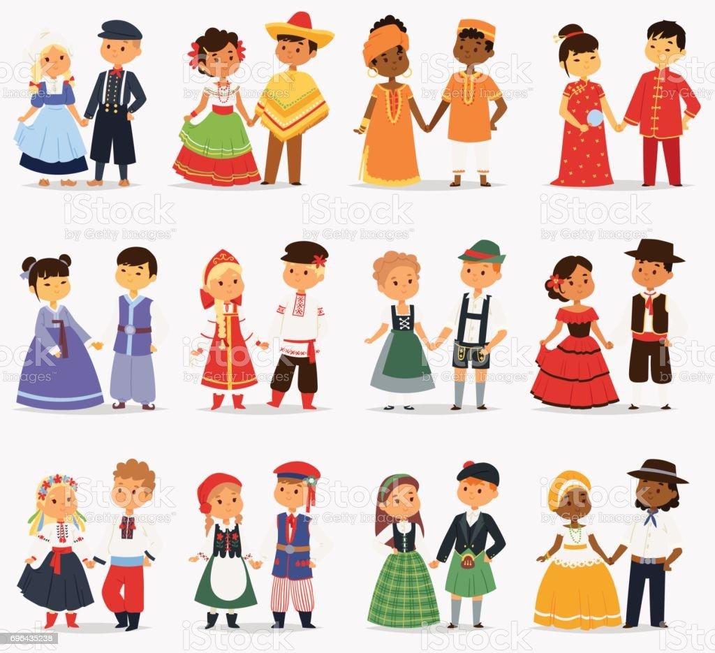 lttle kids children couples character of world dress girls and boys