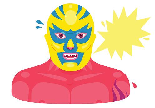 Lucha Libre Mexican Wrestler Portrait