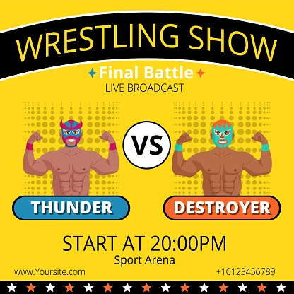 Lucha libre wrestling show advertising poster