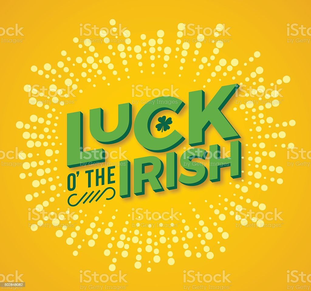 Luck o' the Irish vector art illustration