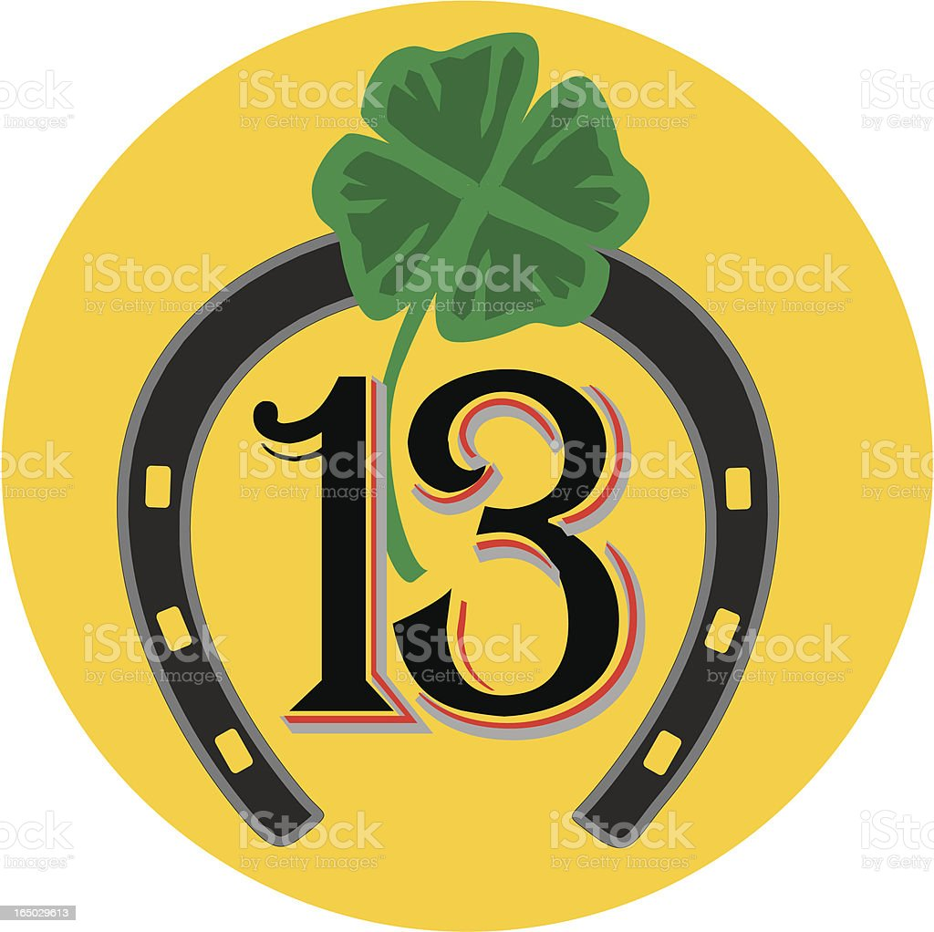 lucky 13 - vector items royalty-free lucky 13 vector items stock vector art & more images of 14-15 years