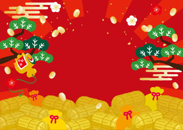 lucky charm background for New Year's Day. lucky charm background for New Year's Day. new years day stock illustrations