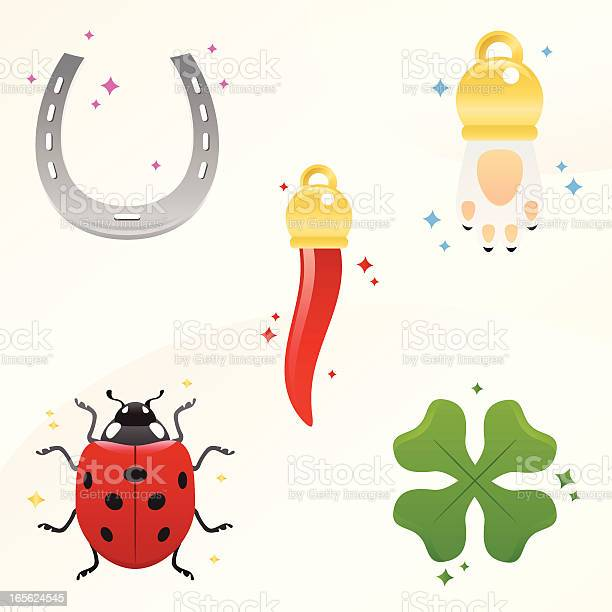 Lucky charms pepper rabbits paw ladybug clover and horseshoe vector id165624545?b=1&k=6&m=165624545&s=612x612&h=xwcpkbjz8glka1kdtdblatxcxkgz 5gdhoslmp8j3hu=