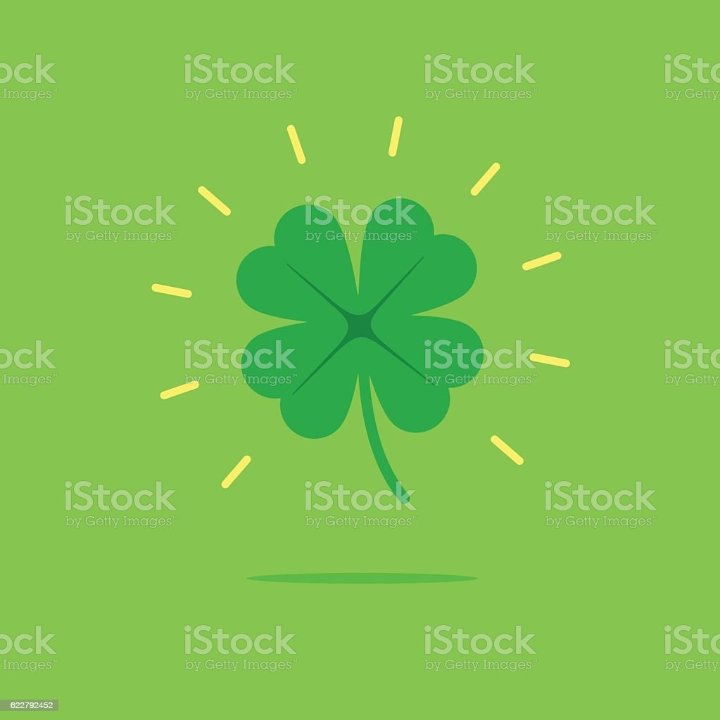 Lucky clover leaf vector icon vector art illustration