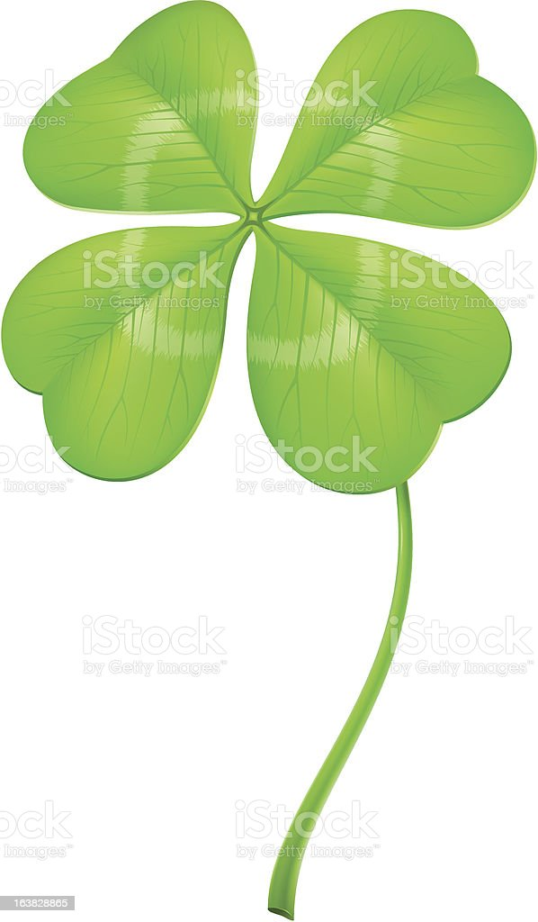 Lucky clover vector art illustration