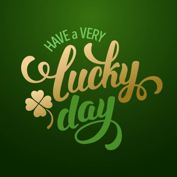 Día de suerte - ilustración de arte vectorial