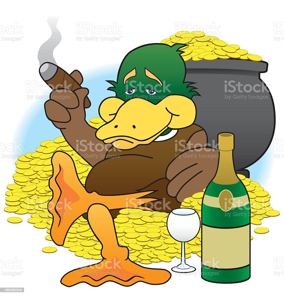 Lucky Duck vector art illustration