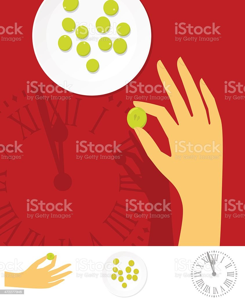 lucky grapes tradition royalty-free stock vector art
