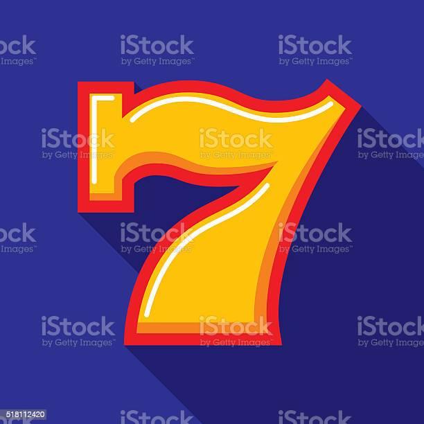 Lucky seven icon flat vector id518112420?b=1&k=6&m=518112420&s=612x612&h=v fh5wec6b 1brsyq0vp sakj9won2zzrnmfl8iacmm=