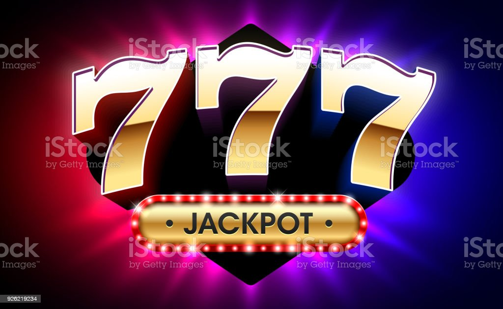 777, lucky sevens jackpot banner vector art illustration
