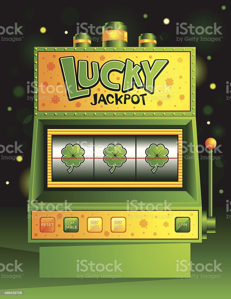 Lucky Slot Machine vector art illustration