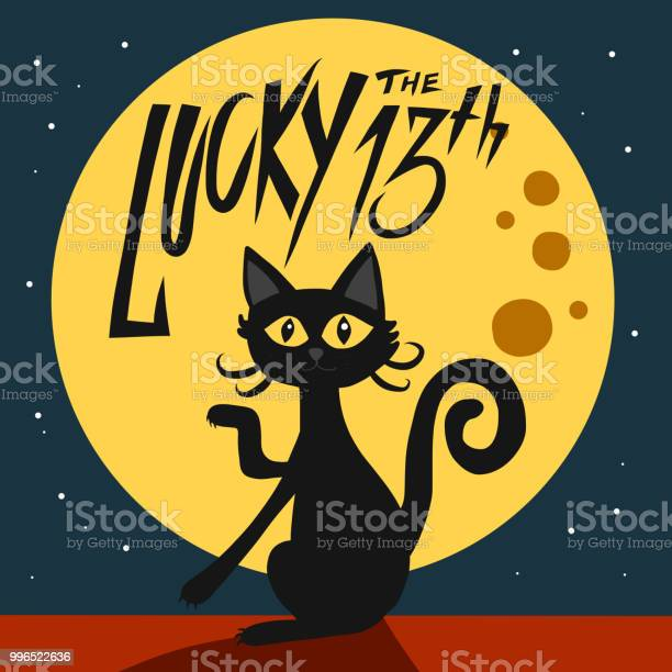 Lucky the 13th black cat and full moon cartoon illustration vector id996522636?b=1&k=6&m=996522636&s=612x612&h= bd3ic pfkbivv426roumokvuda8t0us6cgs9t53fym=