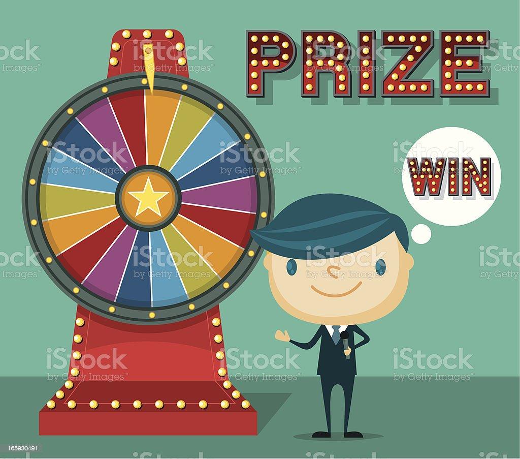 Lucky Wheel royalty-free stock vector art