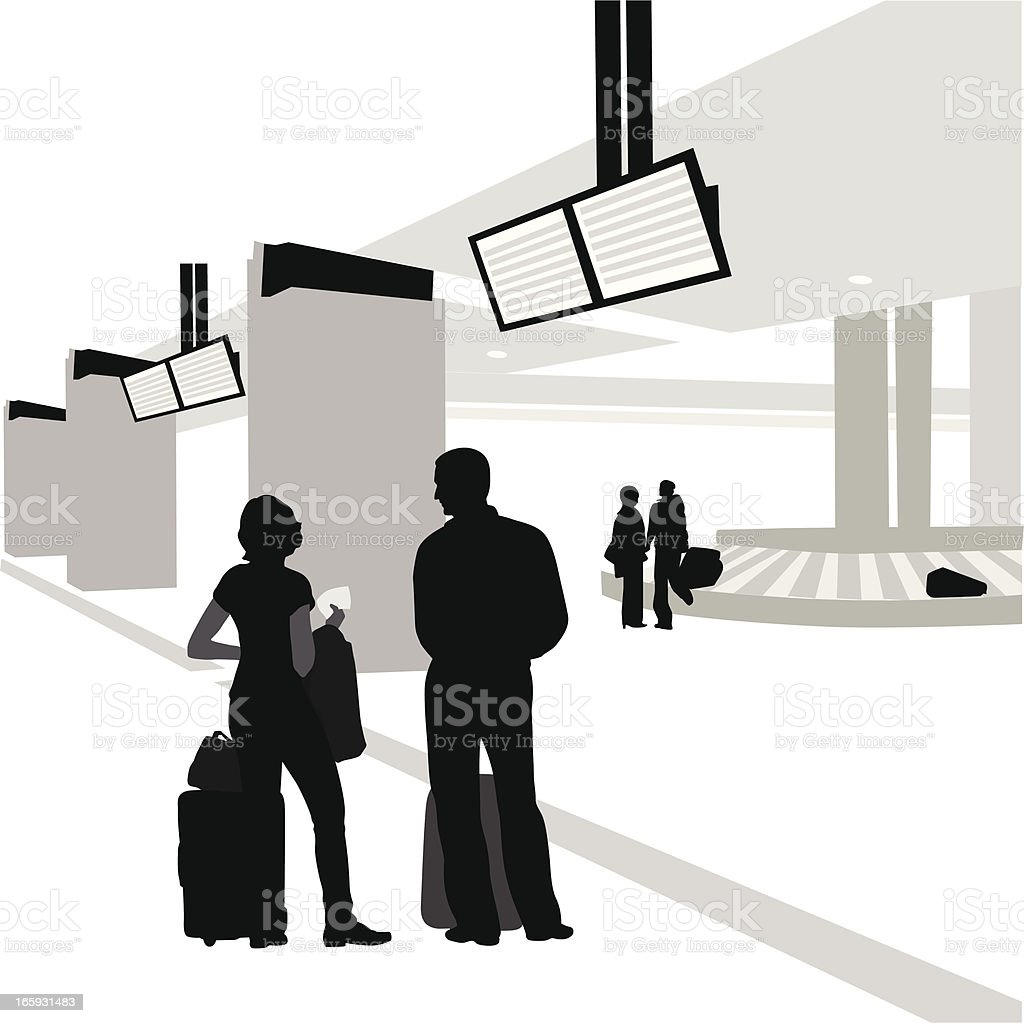 Luggage Carousel Vector Silhouette royalty-free luggage carousel vector silhouette stock vector art & more images of adult