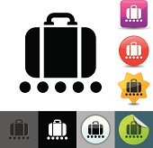 istock Luggage conveyor belt icon | solicosi series 165796635