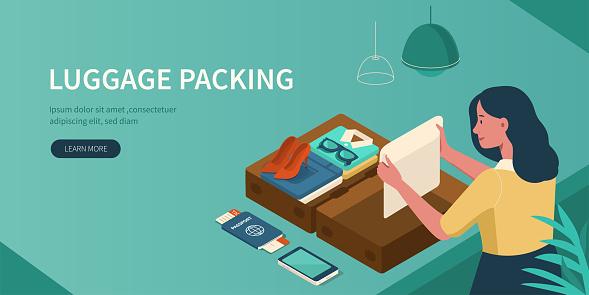 Bagages Demballage Vecteurs libres de droits et plus d'images vectorielles de Adolescent