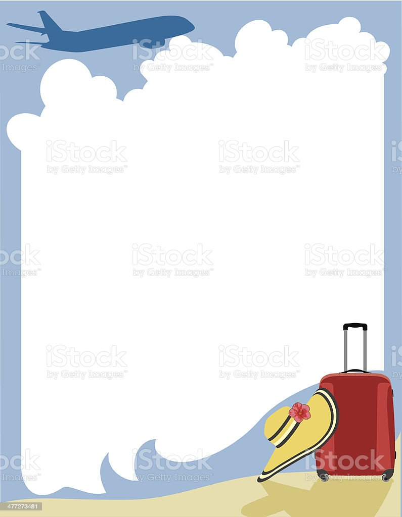 Luggage Plane Frame Stock Vector Art & More Images of Airplane ...