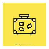 Luggage Rounded Line Icon