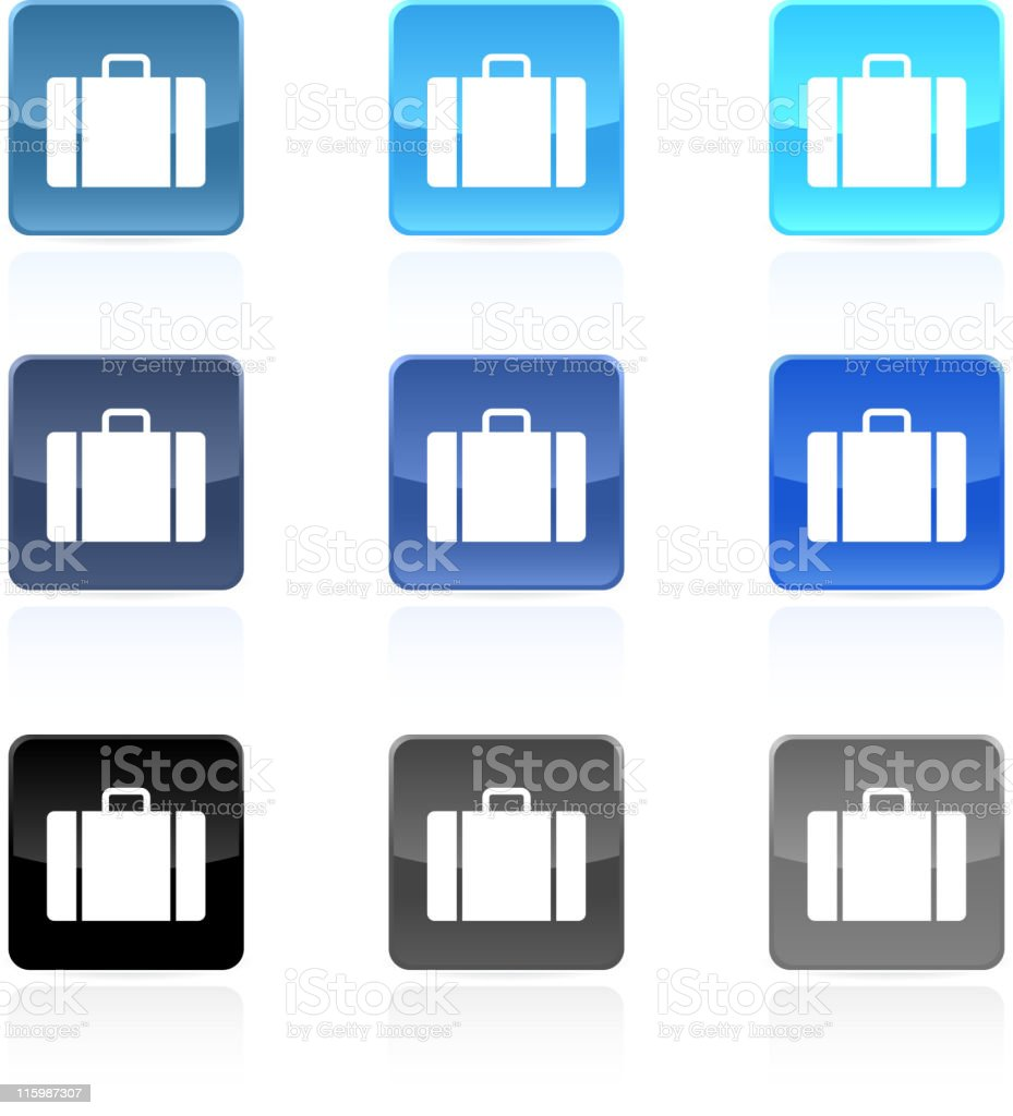 luggage suitcase royalty free vector art button set royalty-free stock vector art