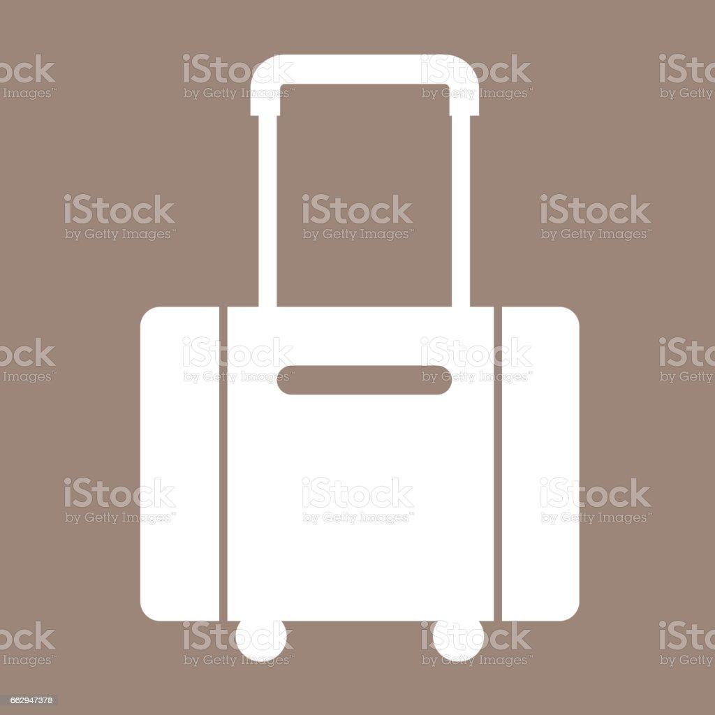 luggage symbol icon Illustration design vector art illustration