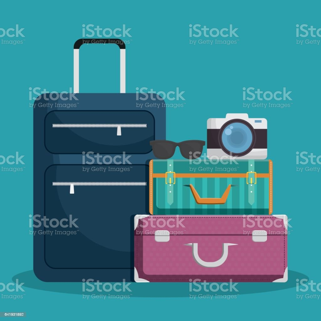 luggage travel icon image vector art illustration