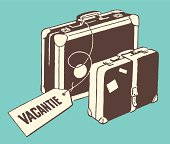 Luggage with Vacation Tag