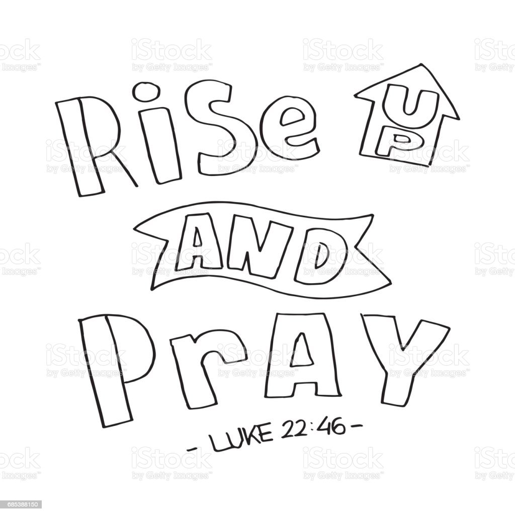 Luke. Rise and Pray luke rise and pray - arte vetorial de stock e mais imagens de alfabeto royalty-free