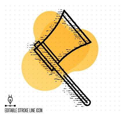 Lumber Industry Vector Editable Line Illustration