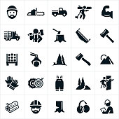 Lumberjack and Logging Icons