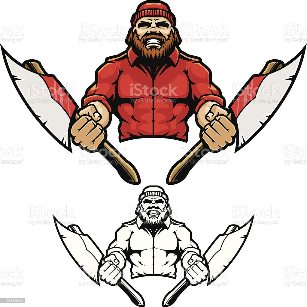 Lumberjack Charge II vector art illustration