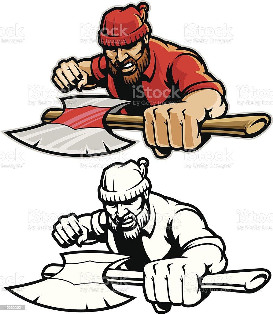 royalty free lumberjack clip art vector images illustrations istock rh istockphoto com lumberjack beard clipart lumberjack clipart images